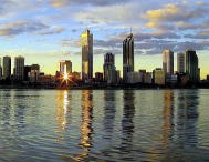 Perth City reflected on the Swan River